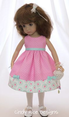 """My Princess in Pink"" ensemble made for Dianna Effner's Little Darling dolls, cindyricedesigns.com"