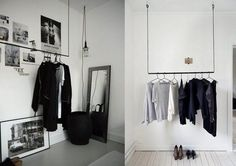 hanging clothing rack ceiling - Google Search