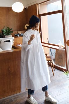 Modest Fashion, Women's Fashion Dresses, Casual Dresses, Fashion Shirts, Loose Dresses, Look Fashion, Korean Fashion, Womens Fashion, Fashion Fall