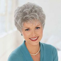 All kinds of top quality human hair Wigs for Grey Wig Women on line now.Buy Style 8 Inches Wavy Capless Grey Short Hair Wigs at Wigsdo Grey Curly Hair, Short Grey Hair, Grey Wig, Curly Hair Styles, Gray Hair, Long Hair, Short Hair Over 60, Short Hair Wigs, Short Hair With Layers