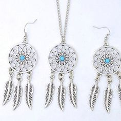 "🎀Flash Sale🎀 Necklace and Earrings Set New dream catcher earring and necklace set. Chain on necklace is 20"" Bundle with other items and save. Jewelry"