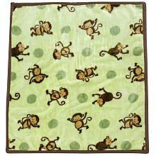 Mod Pod Pop Monkey Hi Pile Blanket