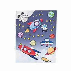 Space Scene Stickers $5 for a dozen