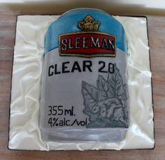 Sleeman beer can sculpted cake