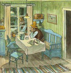 """Sven Nordqvist «История о том, как Финдус потерялся, когда был маленький»   """"Картинки и разговоры"""""""