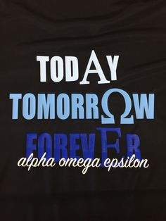 Alpha Omega Epsilon shirt. Beta Gamma chapter
