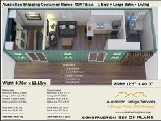 40 Foot Shipping Container HomeFull Construction House PlansBlueprints USA feet 038 Inches Australian Metric Sizes- Hurry- Last Sets 40 Foot Shipping Container Home Full Construction HouseEtsy Shipping Container Home Designs, Container House Design, Small House Design, Shipping Containers, Shipping Container Cabin, Shipping Container Interior, Shipping Container Homes Australia, Smart Home Design, Simple House Plans