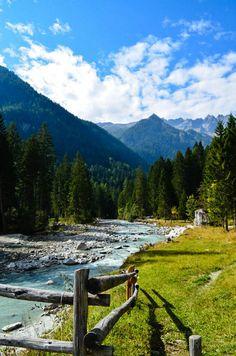 Val di Genova, Trentino-Alto Adige, Italy. Dopo il lago di Molveno in direzione Tione, a 50 km da Spormaggiore.