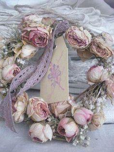 Pretty Rose Shabby Chic Wreath