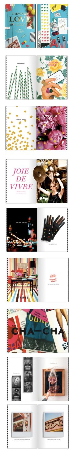 """kate spade's """"things we love"""" book.  AWESOME."""