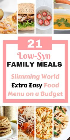 Here is a 7 day meal plan on Slimming World to help you loose weight on a budget. These are all family friendly recipes and includes 21 meals and a free meal plan to help keep you on budget by Laura at Savings 4 Savvy Mums. meals on a budget uk Cooking For A Crowd, Cooking On A Budget, Food Budget, All Family, Family Meals, Family Recipes, Clean Eating Snacks, Healthy Eating, Sw Meals