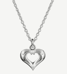 "Eelis Aleksi for Lumoava,""Lumikki"" (Snow White) sterling silver pendant. | Lumoava.fi #Finland #valentine #heart"
