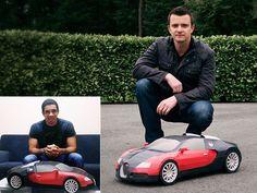 Smarty: Bugatti Veyron versión artística de papel en miniatura