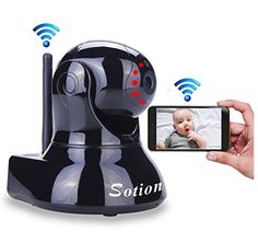 SOTION Super HD Internet WiFi Wireless Network IP Security Surveillance Video Camera System, Baby and Pet Monitor with Pan and Tilt, Two Way Audio & Night Vision * Read more  at the sponsored product link.