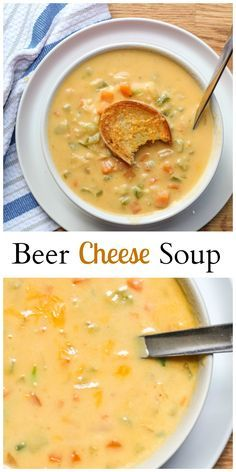 Beer Cheese Soup - Best comfort food! So cheesy and so delicious.