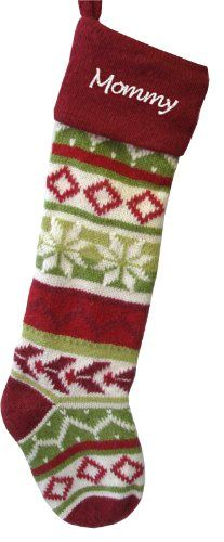 "#limited 28"" - YES - they are large!!!!!! red, green and white knit personalized #Christmas stocking - Lined inside for ultimate luxury feel.. Measured along the..."