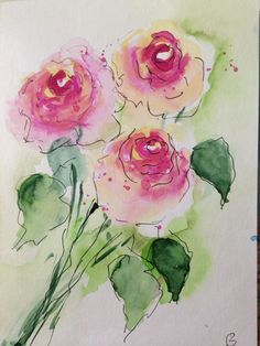 "Aquarell, Aquarellpostkarte "" Rosen "" Blumen, Unikat 21 x 14,8 cm in Antiquitäten & Kunst, Kunst, Aquarelle | eBay!"