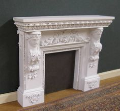 FIREPLACE ~ HANDCRAFTED ~ Neo - Classical ~ JIM COATES ~ Dollhouse Miniature | eBay