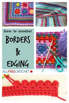 FREE CROCHET TUTORIALS: how to crochet edging. Just updated!! awesome collection of free tutorials and free crochet patterns.