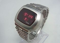 Retro Watches, Vintage Watches, Led Watch, Time Design, Digital Watch, Fashion Ideas, Tube, Classic, Modern