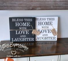 Bless this home 12x12 Wood Sign - Netties Expressions  www.nettiesexpressions.com