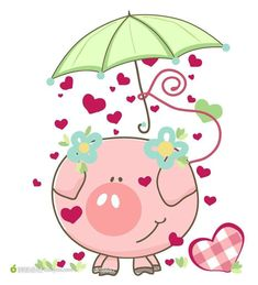 pig with umbrella Poster. This Little Piggy, Little Pigs, Pig Illustration, Illustrations, Circle Crafts, Pig Drawing, Pig Art, Mini Pigs, Pigs