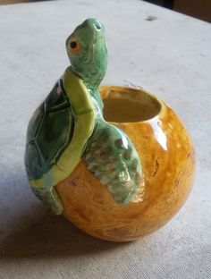 Sea Turtle Ball Vase by Dragonware on Etsy