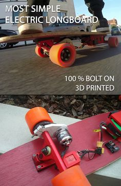 Learn the easiest way to build an electric longboard with 3D printed parts. This longboard has a top speed of about 34 Kph and a battery life of 30 kilometers (18,6 miles) per charge.