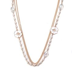 What A Girl Wants White Flower Necklace!! Featured in our weekly sale only 14.98 #Inspiredsilver #sale #jewelry