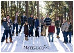 Matt Clayton Photography: The Brady Family Winter Family Photos, Large Family Photos, Family Picture Poses, Family Photo Outfits, Family Photo Sessions, Winter Pictures, Family Posing, Family Portraits, Family Pictures