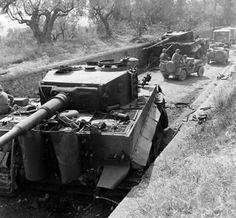Tiger tanks abandoned