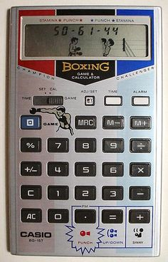 The Casio Boxing Came Calculator Handheld Video Games, 80s Video Games, Retro Arcade Machine, Retro Radios, Game & Watch, Mini Games, Vintage Games, Retro Toys, Old Tv