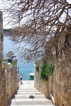 Steps to the sea, Hvar, Croatia