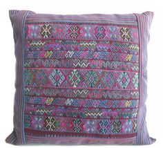 Hand made pillows from Guatemala.