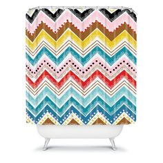 DENY Designs Khristian A Howell Nolita Chevrons Shower Curtain - 13003-SHOCUR