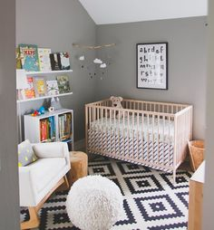 19 inspirational nursery designs using the IKEA Sniglar cot Baby Bedroom, Baby Room Decor, Nursery Room, Girl Nursery, Nursery Ideas, Room Ideas, Bed Ideas, Ikea Cot, Ikea Sniglar Crib
