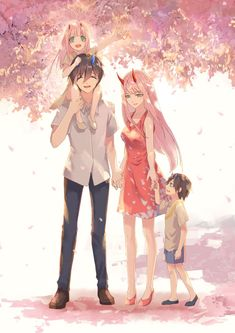 Hiro und Zero Two Anime: Liebling im FranXX - Darling in the FranXX - Art Manga, Manga Anime, Querida No Franxx, Otaku, Anime Amor, Familia Anime, Yuri Anime, Estilo Anime, Zero Two