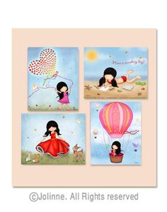 Kids Bedroom Art kids room wall art, kids art prints, girls room pictures, girls