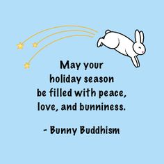 This holiday season only, give the @bunnybuddhism book and get a free Bunny Buddhism quote keychain! See http://bunnybuddhism.com/holiday-offer/ for details.