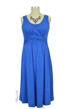 153e07b4d32d Ava Sleeveless Wrap Nursing Dress in Cobalt. Please use coupon code  NewProducts to receive 15