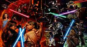 Star Wars Characters Poster by Star Wars Artist