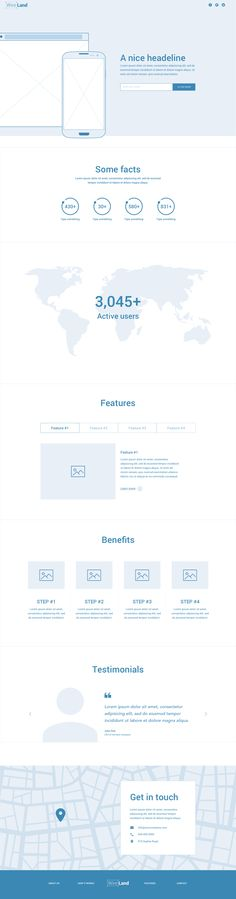 Wireland is a complete wireframing library collection optimized to structure web design projects really fast and easy while getting a great result. This library consist on 190+ of the most common sections divided into 15 popular content categories.
