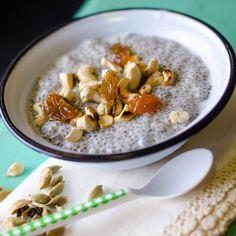 Chia Puding, Paleo, Oatmeal, Good Food, Meals, Baking, Breakfast, Healthy, Addiction