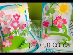 "I like the way the flower garden develops in this video: ""how to make pop up cards"""