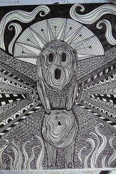 A Zentangle Screaming