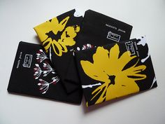 Black + yellow + white designs by Lumo Lifestyle.