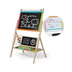 Suuri liitutaulu, 109,95 €. Tässä suuressa liitutaulussa on monta erilaista ominaisuutta, jotka kannustavat lastasi luovuuteen. Liitutauluun kuuluu myös liitu piirtämiseen ja pesusieni sen putsaamiseen. Mukana tulee myös aakkos- ja numeromagneetit sekä helmitaulu jolla lapsesi voi opetella matematiikkaa. Helposti kasattava liitutaulu on erittäin hyvä valinta lapsellesi. Ilmainen kotiinkuljetus! #liitutaulu