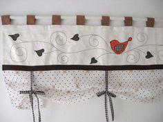Nouveaux rideaux r alis s avec deux torchons couper en - Rideau champetre cuisine ...