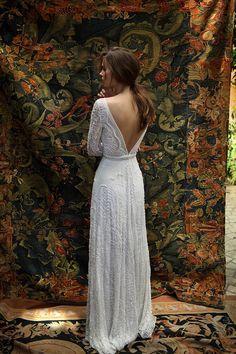White Bohemian by Lili Hod 2016 Wedding Dresses - Florence Wedding Dress,plunging backline #weddingdress