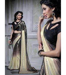 c41a6dc0ebb Buy multicolor plain georgette saree with blouse shimmer-saree online Plain  Georgette Saree